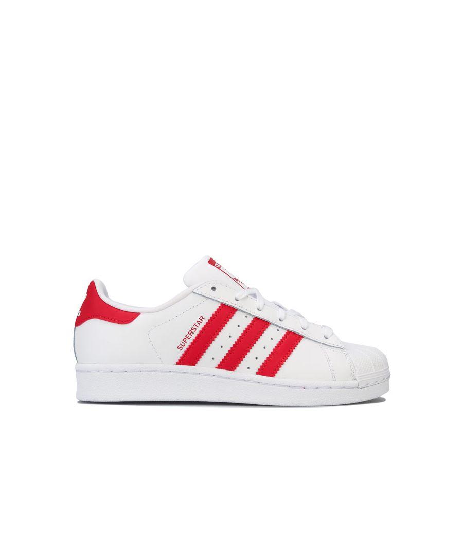 Image for Boy's adidas Originals Junior Superstar Trainers in White