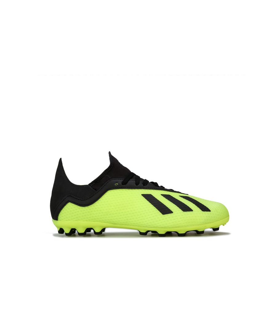 Image for Boy's adidas Junior X 18.3 AG Football Boots in yellow black