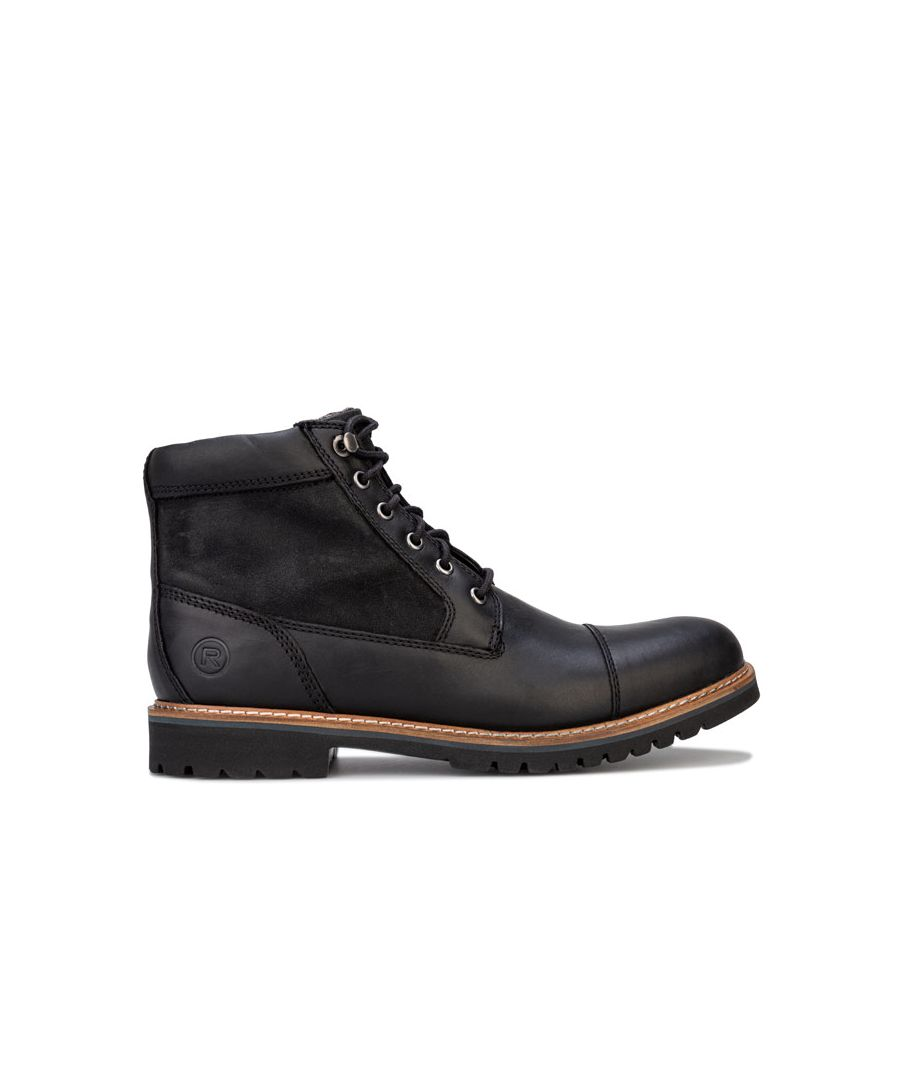 Image for Men's Rockport Marshall Rugged Cap Toe Boots in Black