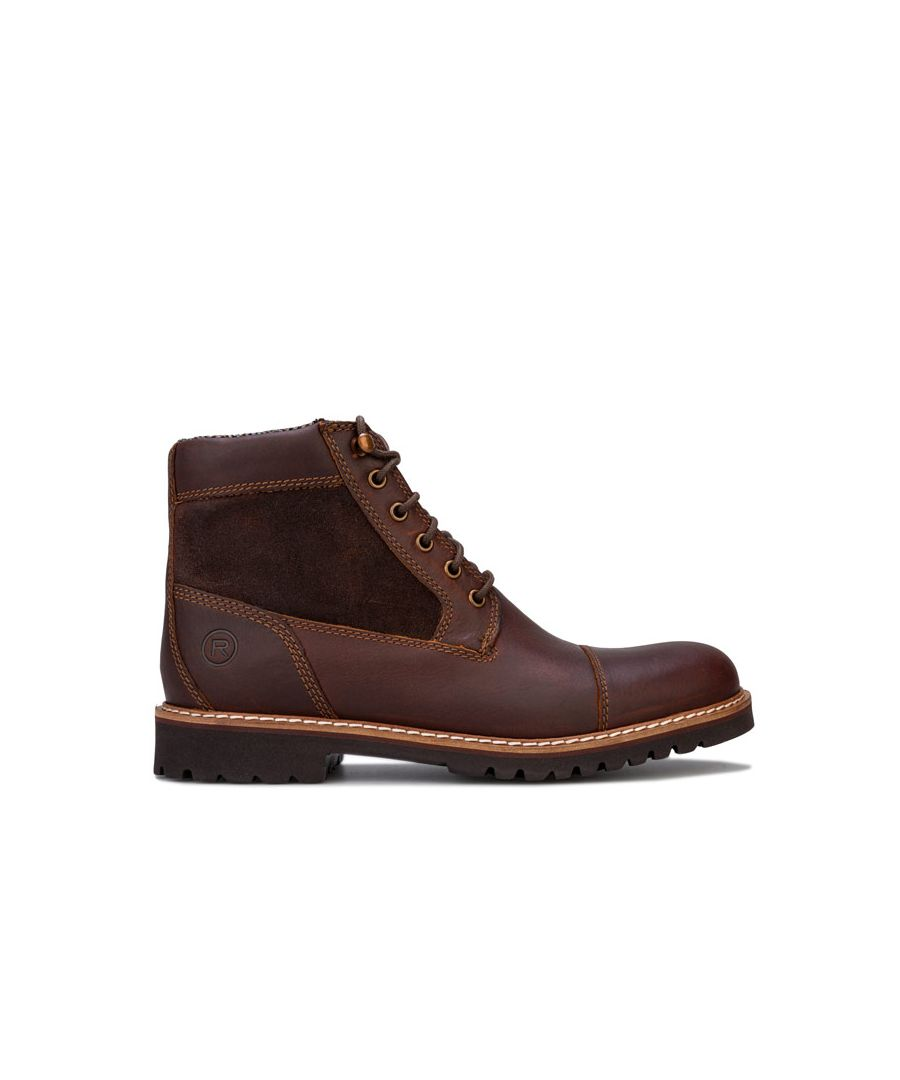 Image for Men's Rockport Marshall Rugged Cap Toe Boots in Brown