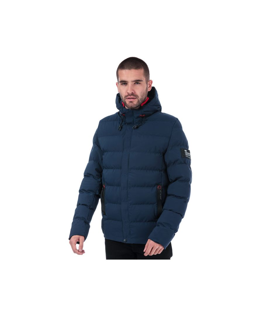 Image for Men's Crosshatch Black Label Kampleys Quilted Jacket in Navy