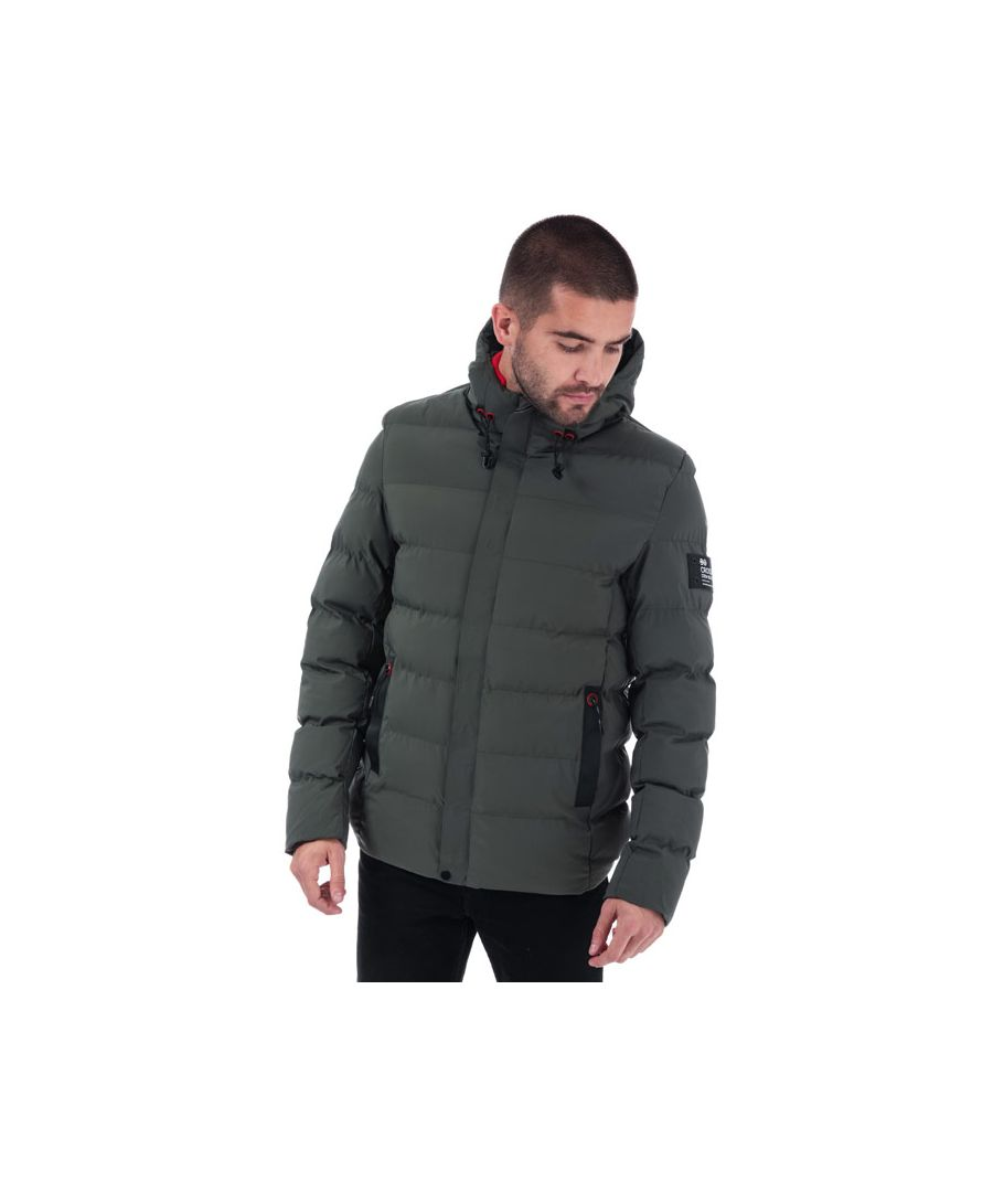 Image for Men's Crosshatch Black Label Kampleys Quilted Jacket in Green