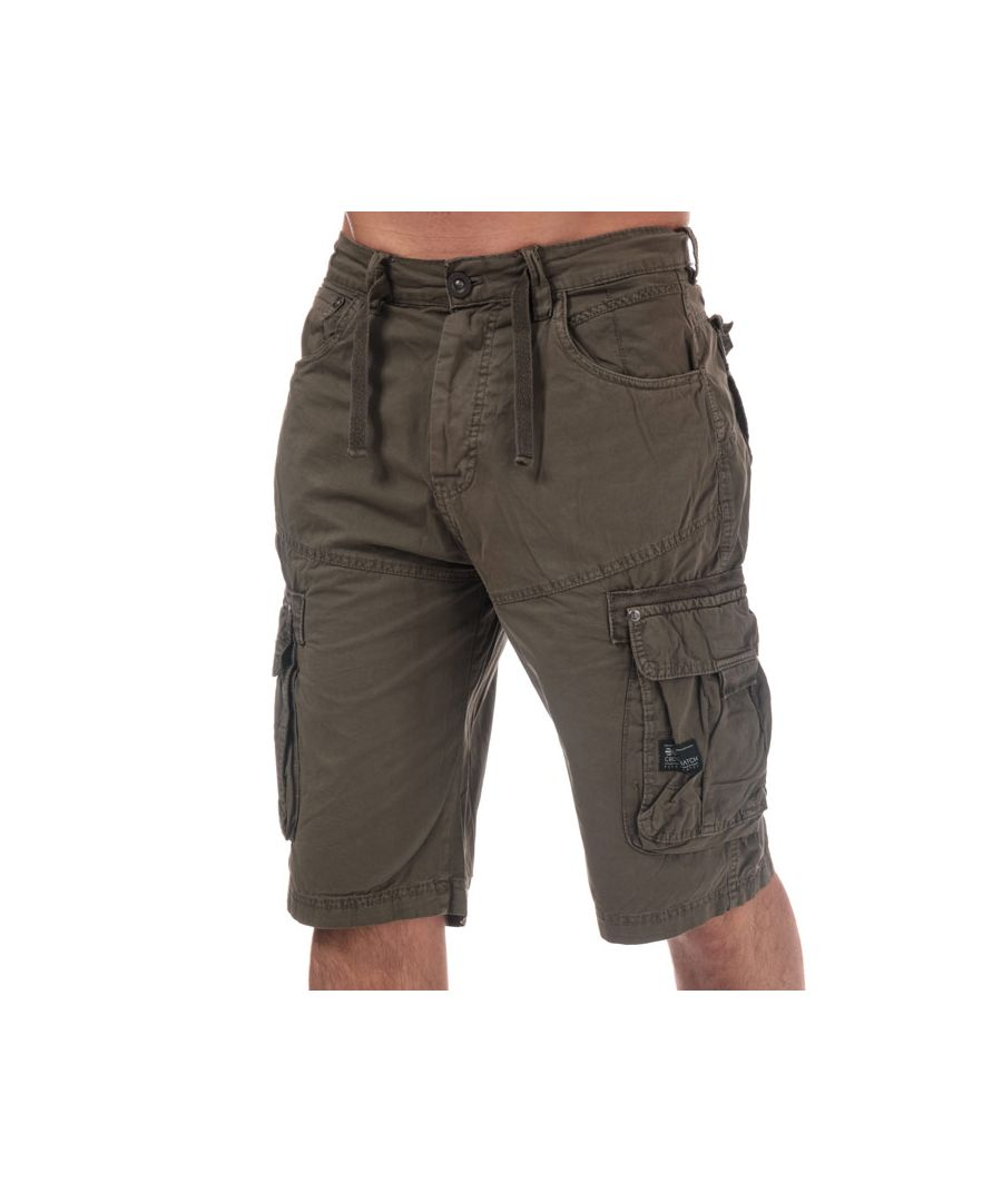 Image for Men's Crosshatch Black Label Chaseforth Cargo Shorts in Khaki
