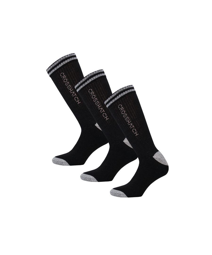 Image for Men's Crosshatch Balance 3 Pack Sport Socks in Black