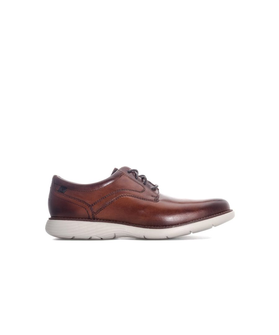 Image for Men's Rockport Garett Plain Toe Shoe in Cognac