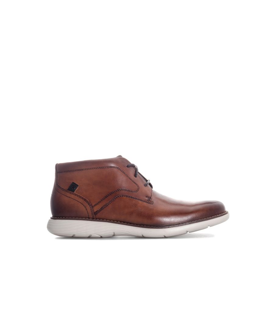 Image for Men's Rockport Garrett Plain Toe Chukka Boot in Cognac
