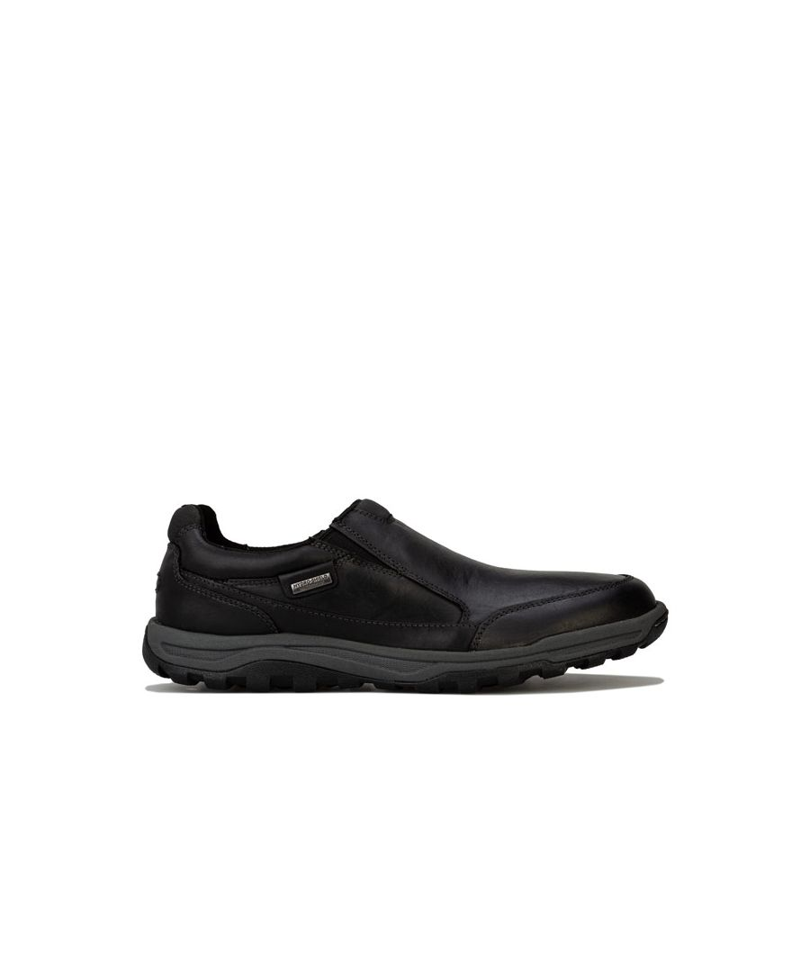 Image for Men's Rockport Harlee Double Gore Slip On Shoe in Black