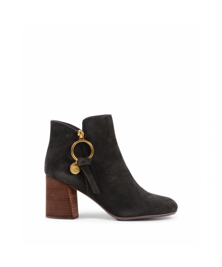 Image for Chloè Womens Ankle Boot Dark Brown SB31148A B024 DARK BROWN