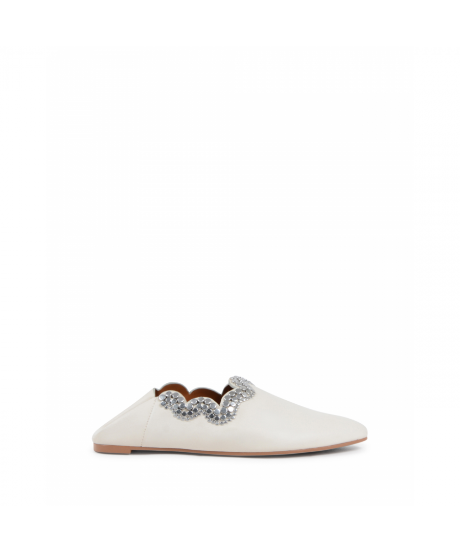 Image for Chloe Womens Ballerina Off White SB32068A GESSO