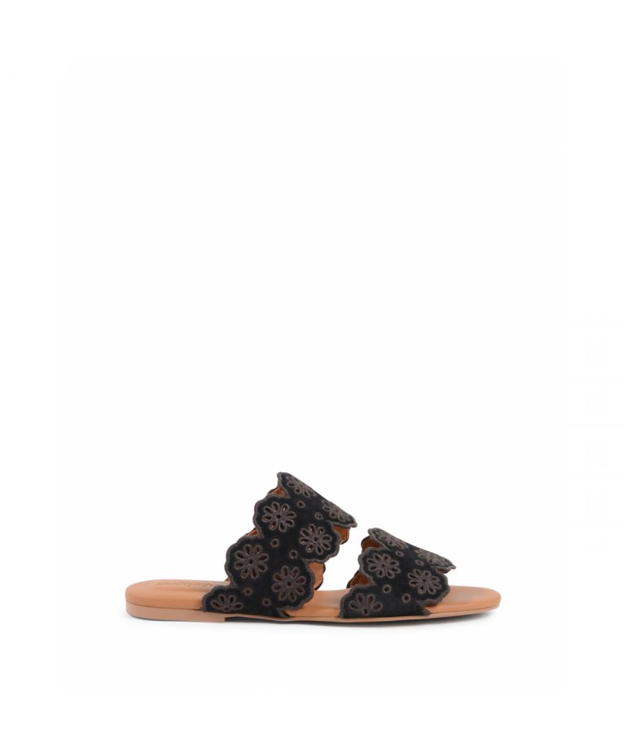 Image for Chloe Womens Flat Sandal Black SB30182 NERO