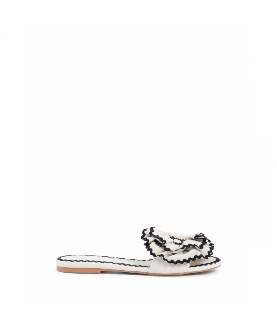 Image for Chloe Womens Flat Sandal White SB32071A 999 GESSO NERO
