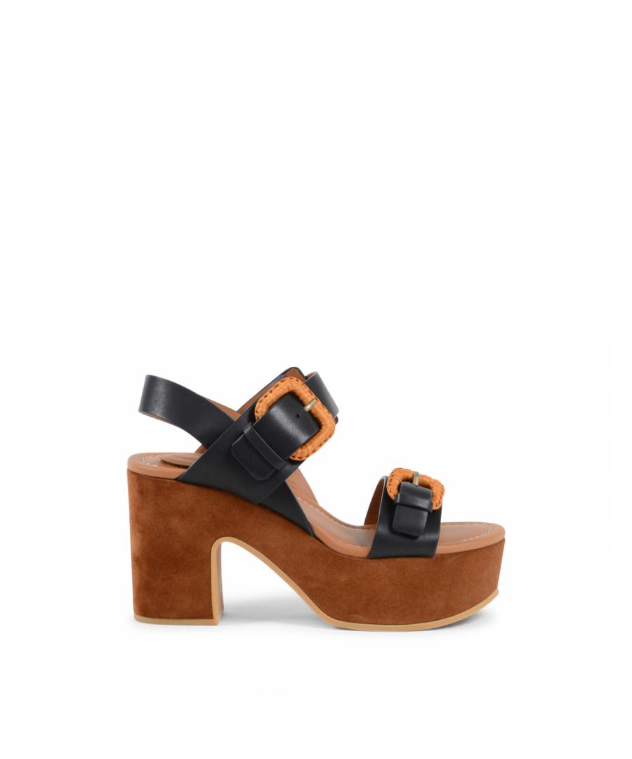 Image for Chloe Womens Sandal Black SB30091 NERO TABACCO