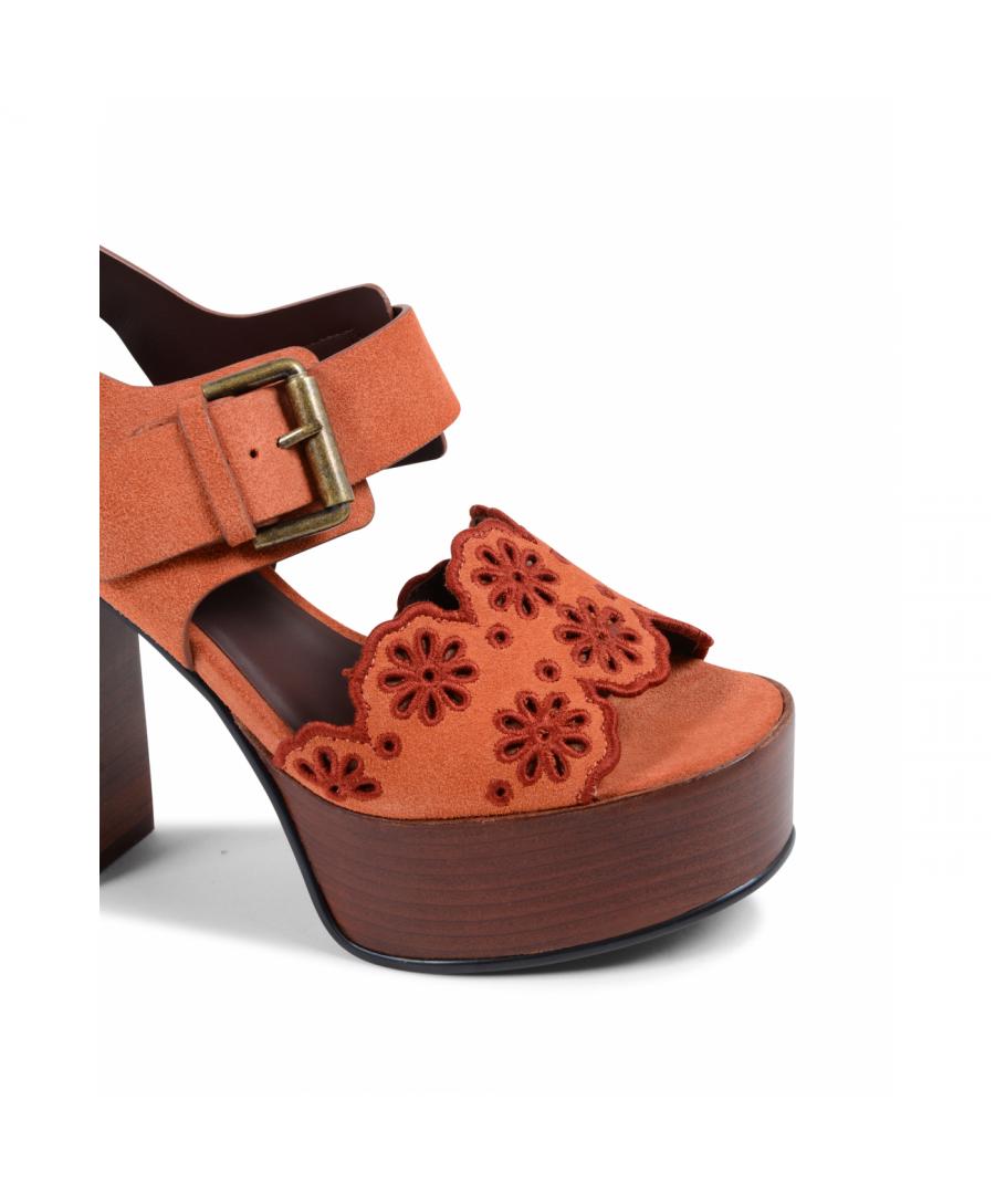 Image for Chloe Womens Sandal Orange SB32104A PHARD