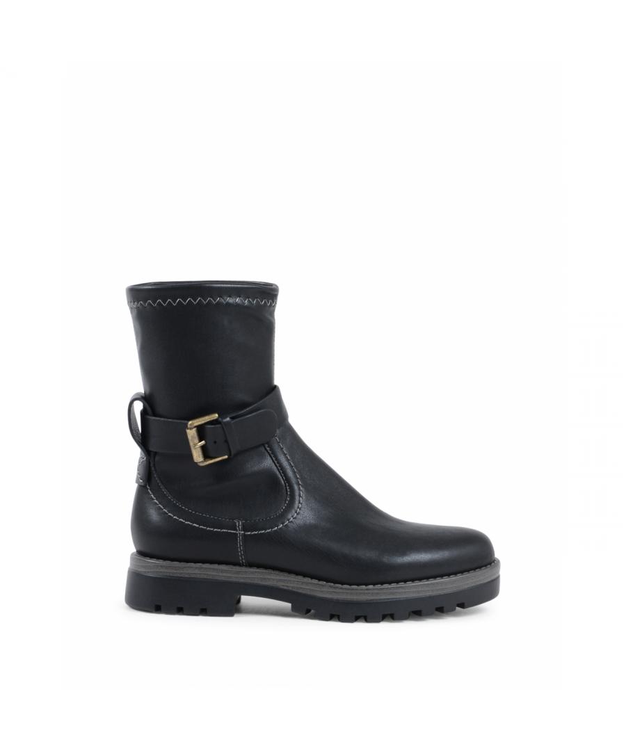 Image for Chloè Womens Short Boot Black SB31020A 999 BLACK
