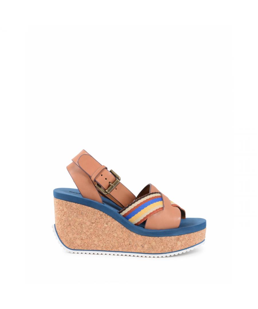 Image for Chloe Womens Wedge Sandal Multicolor SB30144 CUOIO MULTI