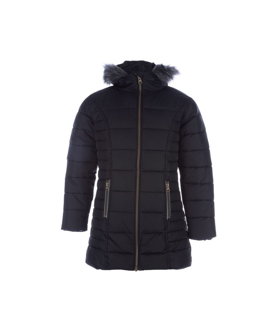 Image for Girl's Harvey and Jones Junior Chloe Padded Jacket in Black
