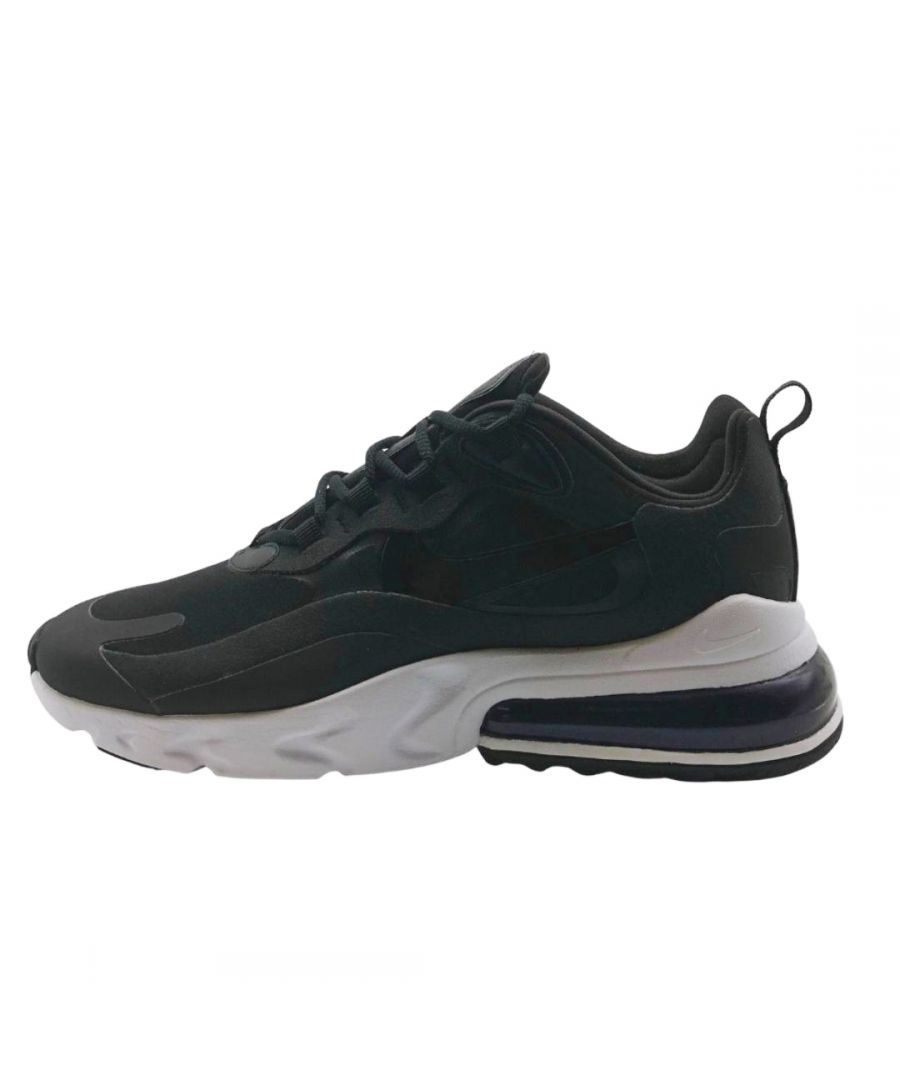 Image for Nike Air Max 270 React Womens Black Sneakers