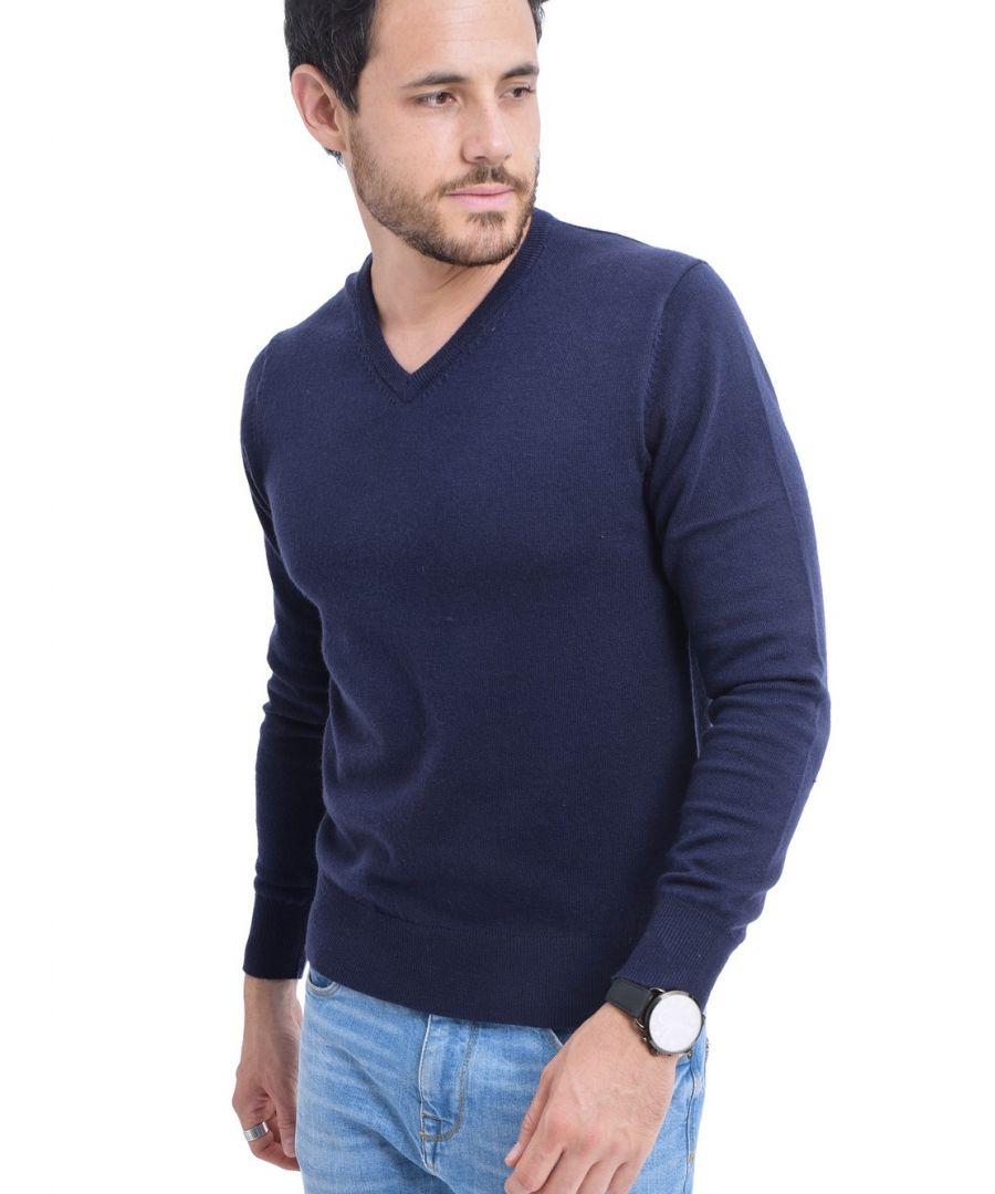 Image for C&JO V-neck Sweater in Navy