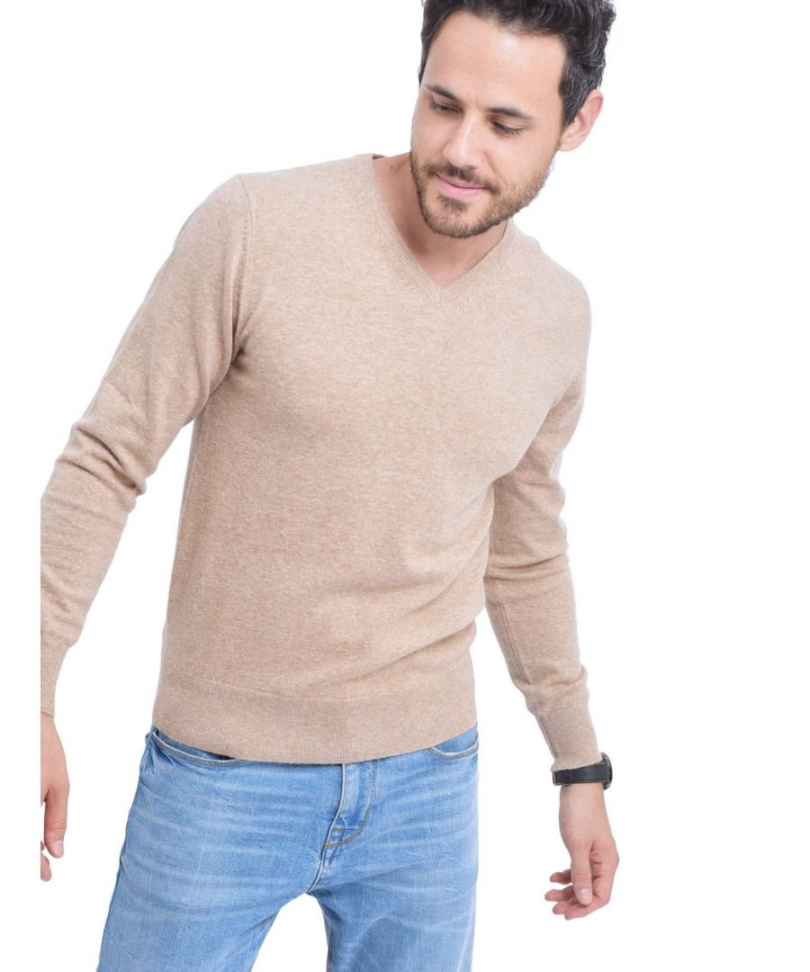 Image for C&JO V-neck Sweater in Beige