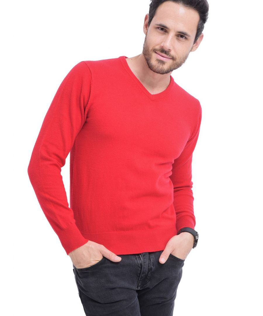 Image for C&JO V-neck Sweater in Red