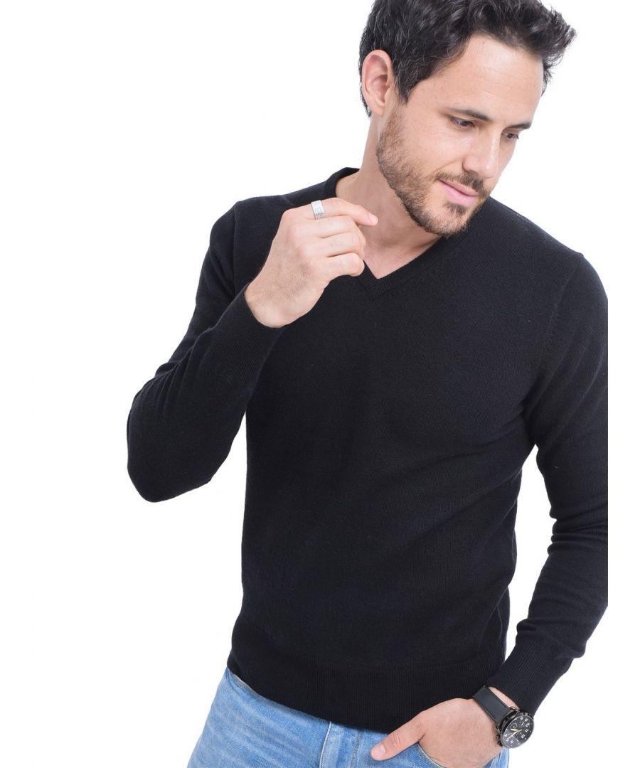 Image for C&JO V-neck Sweater in Black