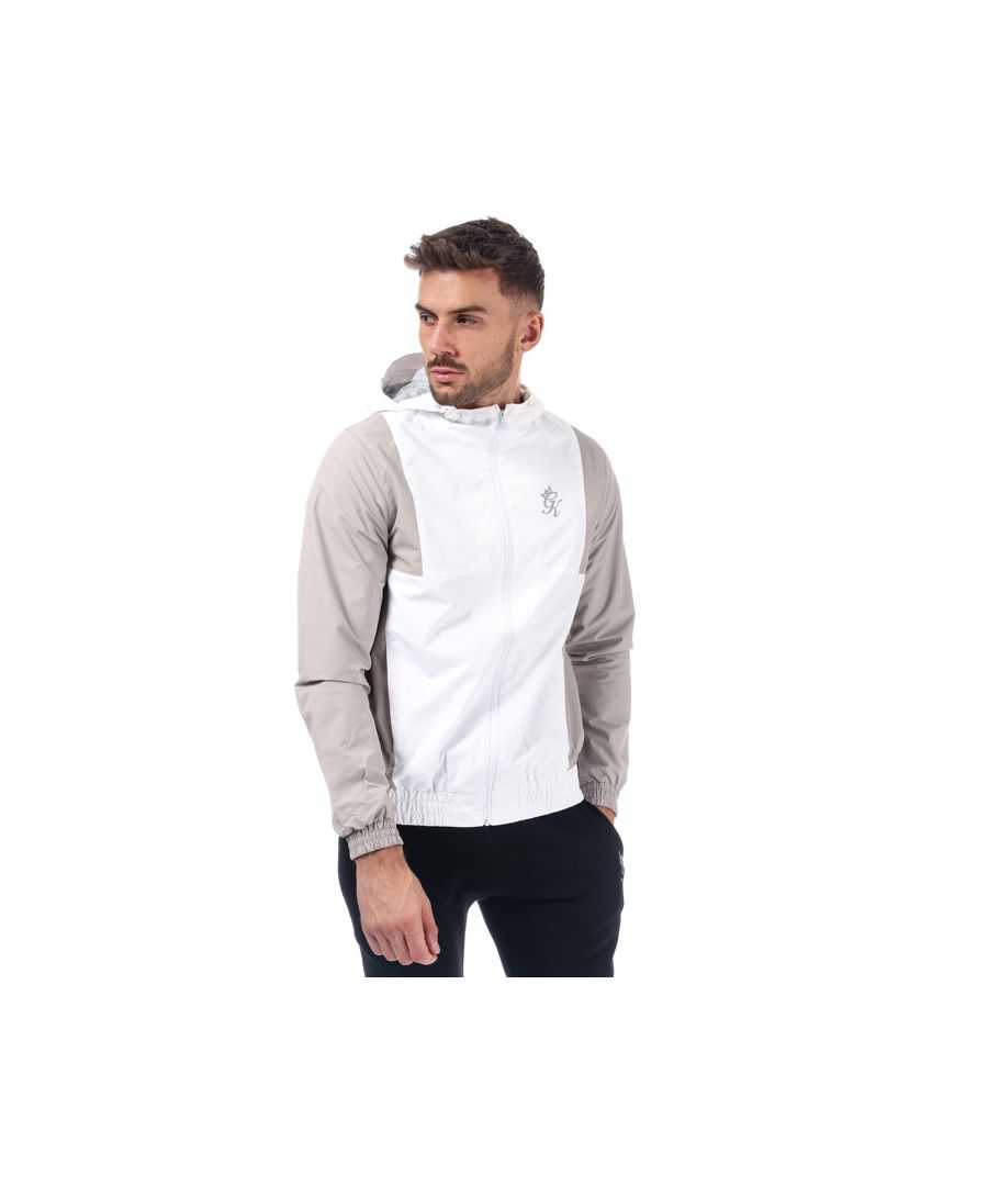 Image for Men's Gym King Headlock Windbreaker in White Grey
