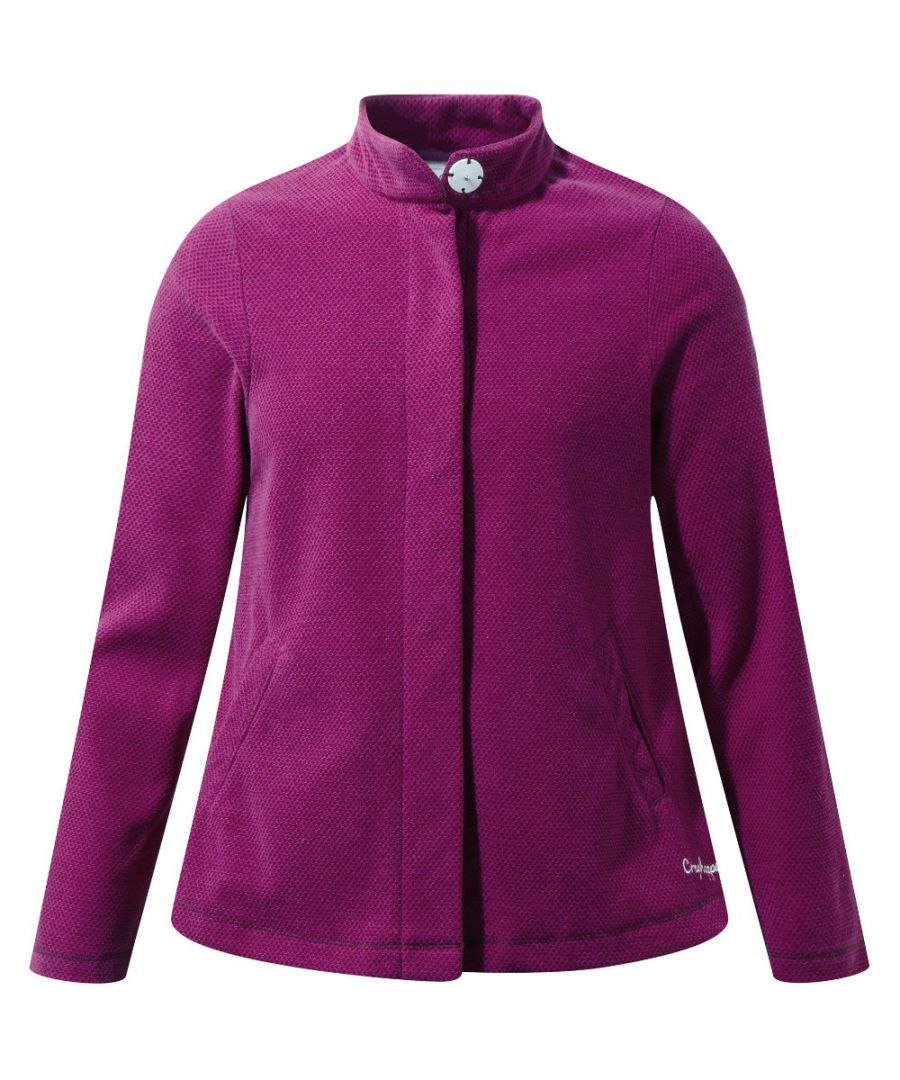Image for Craghoppers Boys & Girls Anjey Honeycomb Pique Fleece Jacket Top
