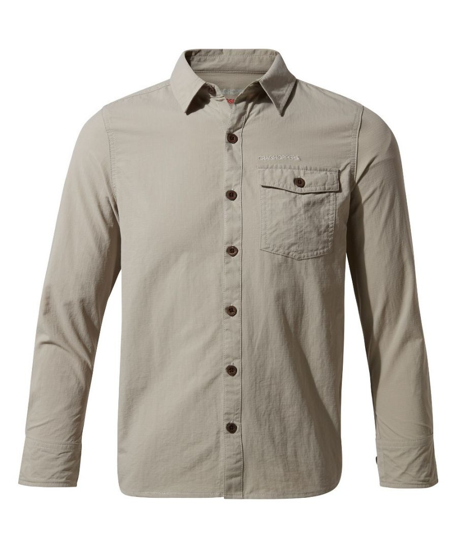 Image for Craghoppers Boys NosiLife Emerson Durable Long Sleeved Shirt