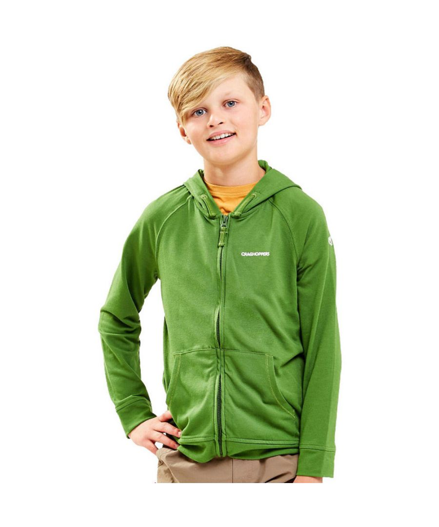 Image for Craghoppers Boys & Girls NosiLife Ryley Wicking Full Zip Hoodie Top