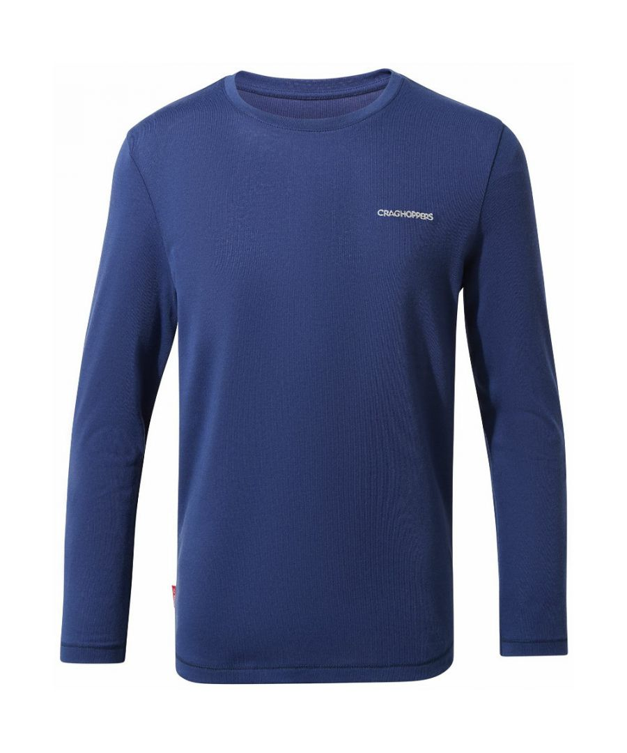 Image for Craghoppers Boys NosiLife Jago Wicking Long Sleeved T Shirt