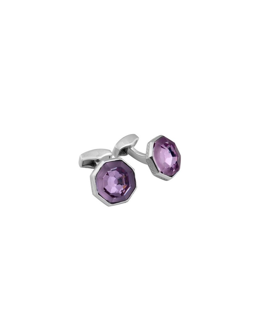Image for Frosted Web purple swarovski cufflinks