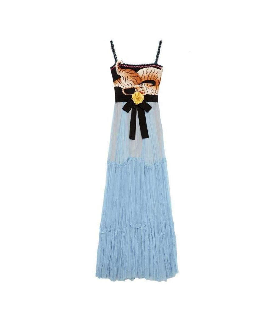 Image for Gucci Blue Silk Chiffon Gown