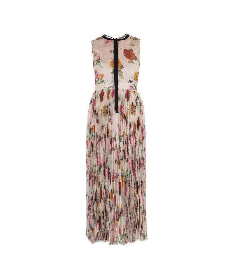 Image for Gucci Floral Patterned Pleated Dress