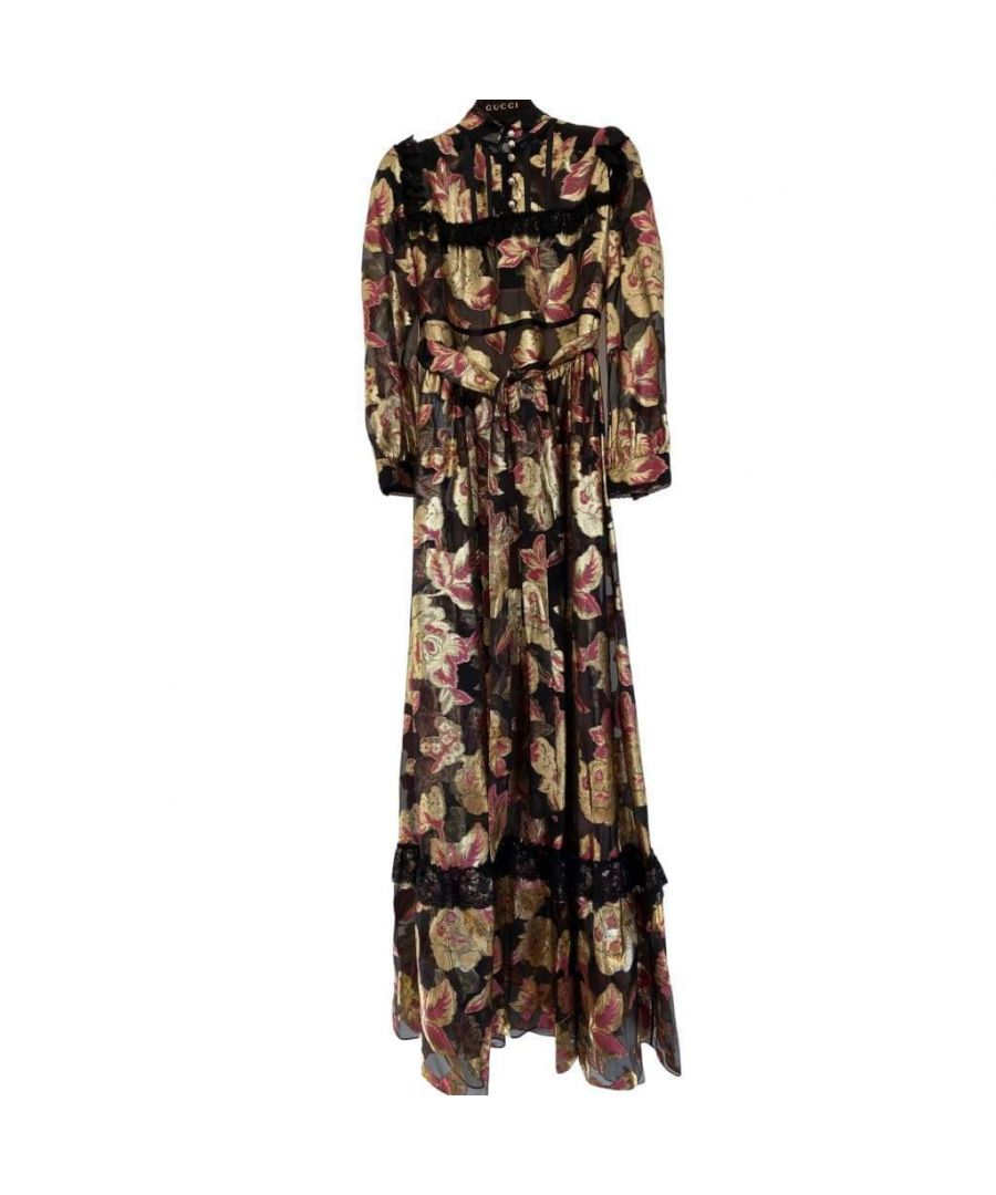 Image for Gucci Organza Flower Gown Dress