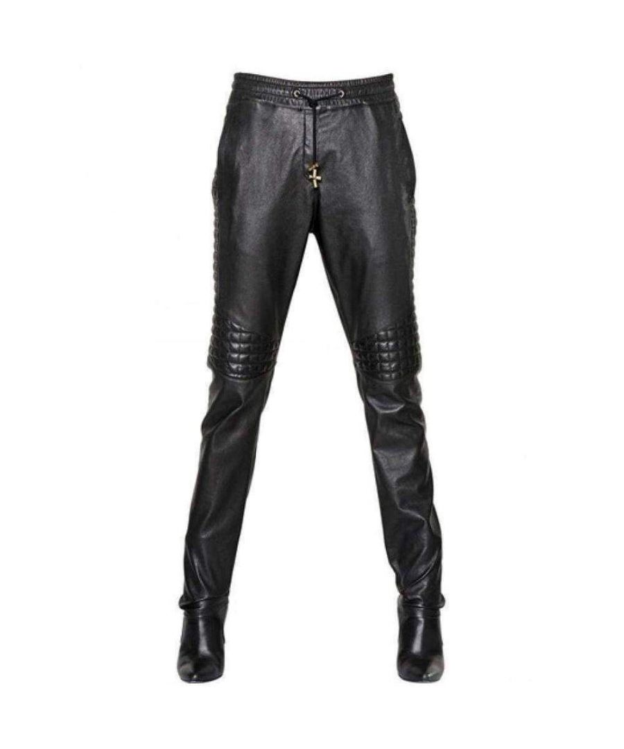 Image for Balmain Runway Leather Trouser Pants