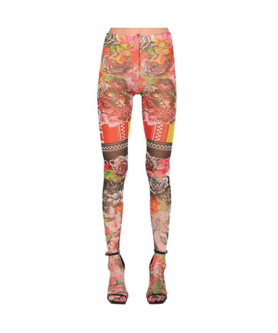Image for Versace Sheer Printed Stretch Tulle Leggings