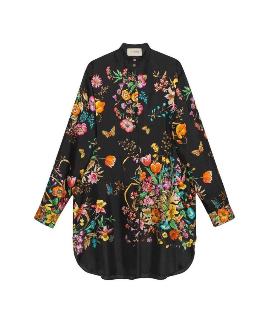 Image for Gucci Silk Floral Tunic Dress
