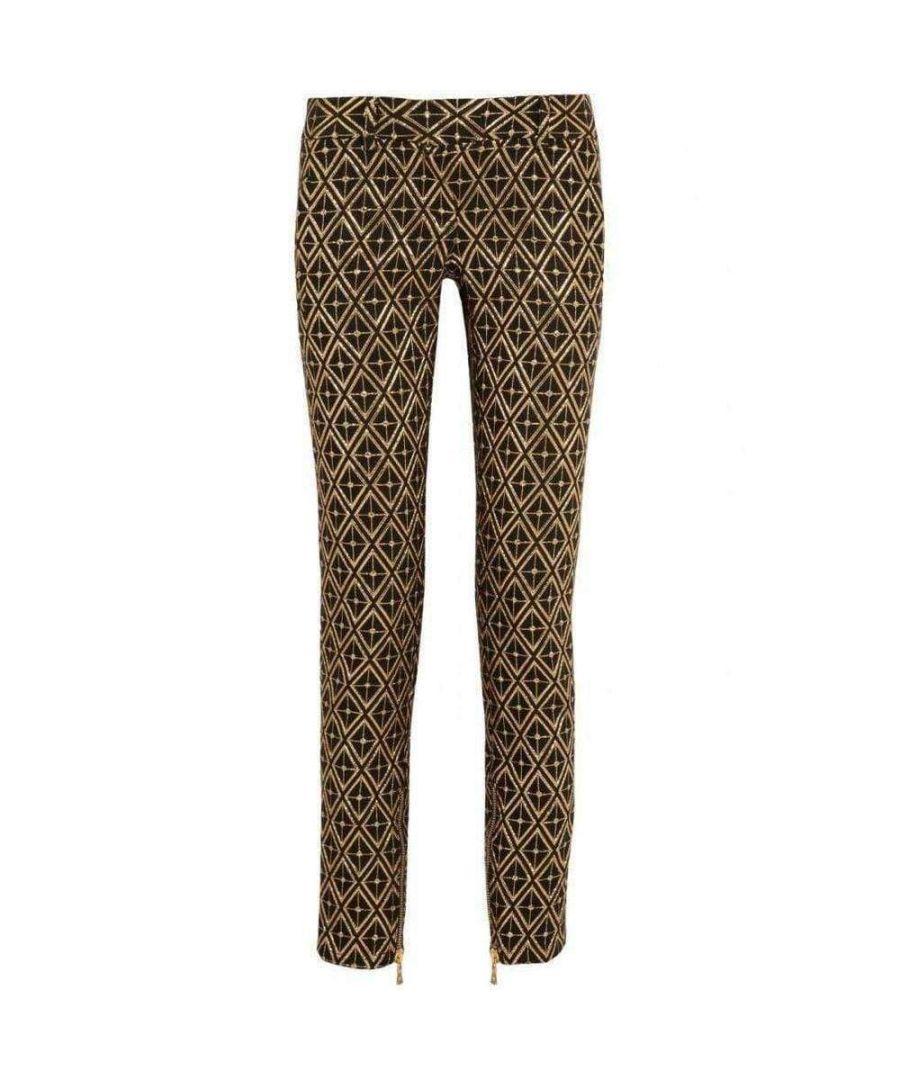 Image for Balmain Metallic jacquard skinny pants