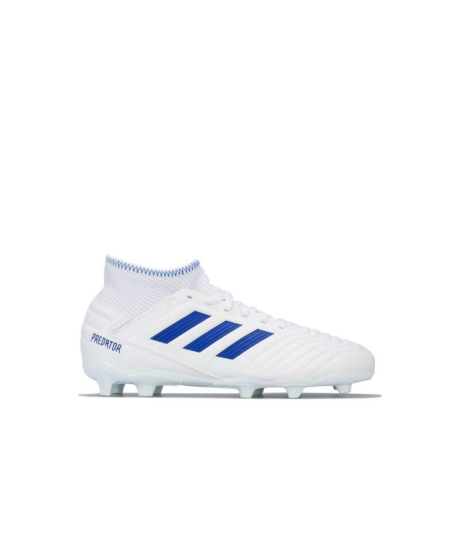 Image for Boy's adidas Junior Nemeziz 19.3 FG Football Boots in White
