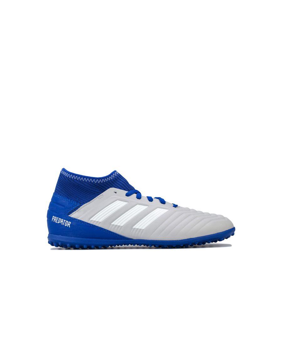 Image for Boy's adidas Junior Predator 19.3 Astro Turf Trainers in Grey blue