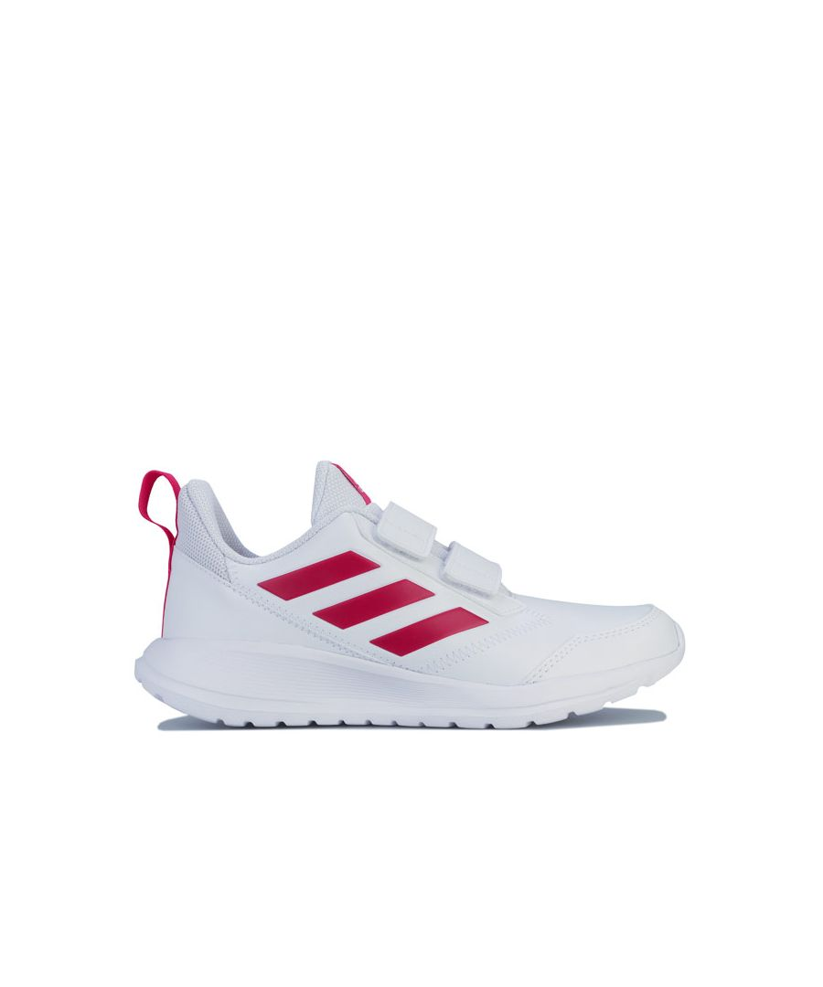 Image for Girl's adidas Junior AltaRun Trainers in White pink