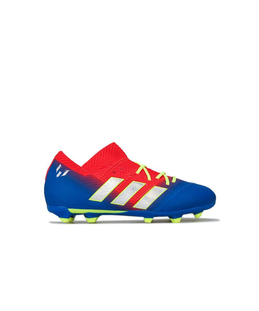Image for Boy's adidas Childrens Nemeziz Messi 18.1 Firm Ground Football in Blue