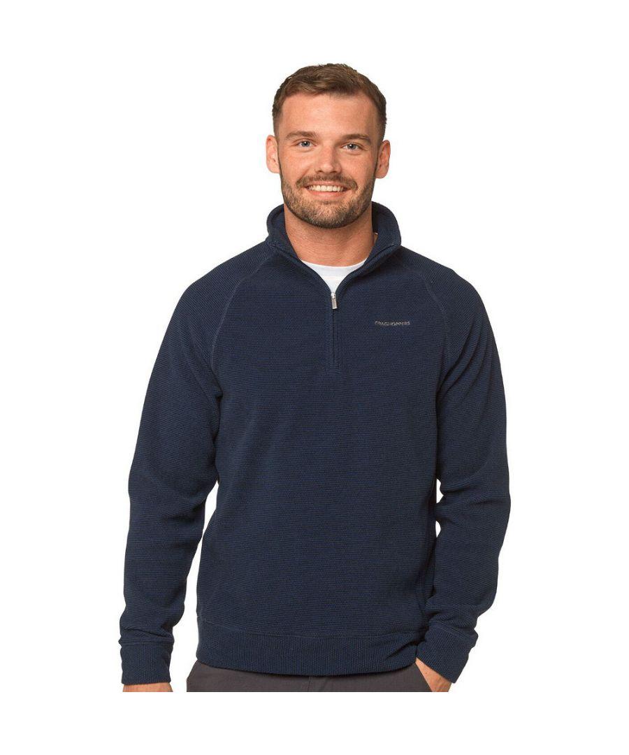 Image for Craghoppers Mens Leto Half Zip Insulated Fleece Jacket