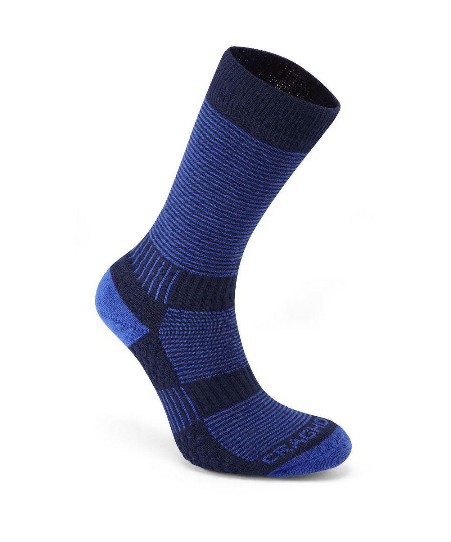 Image for Craghoppers Mens & Womens Padded Heat Regulator Travel Socks