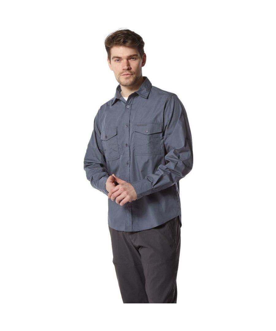 Image for Craghoppers Mens Kiwi Long Sleeve Polycotton Solar Shield Travel Shirt