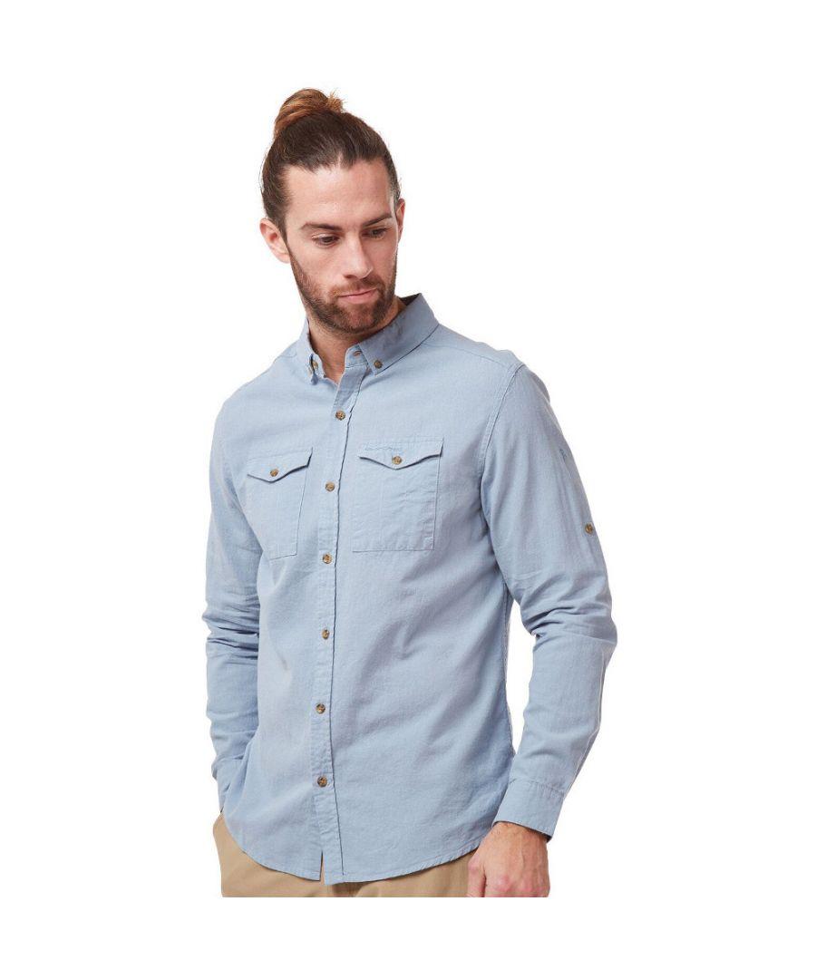 Image for Craghoppers Mens Kiwi Linen Lightweight Long Sleeve Shirt