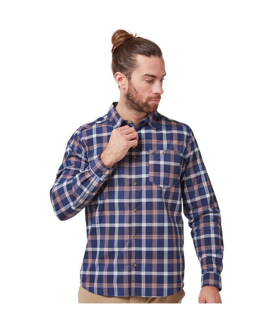 Image for Craghoppers Mens NosiLife Balbor Wicking Long Sleeve Shirt