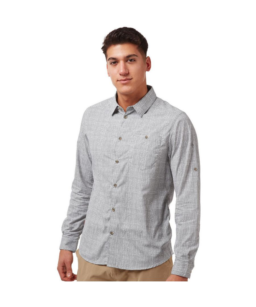 Image for Craghoppers Mens NosiLife Lester Wicking Long Sleeve Shirt