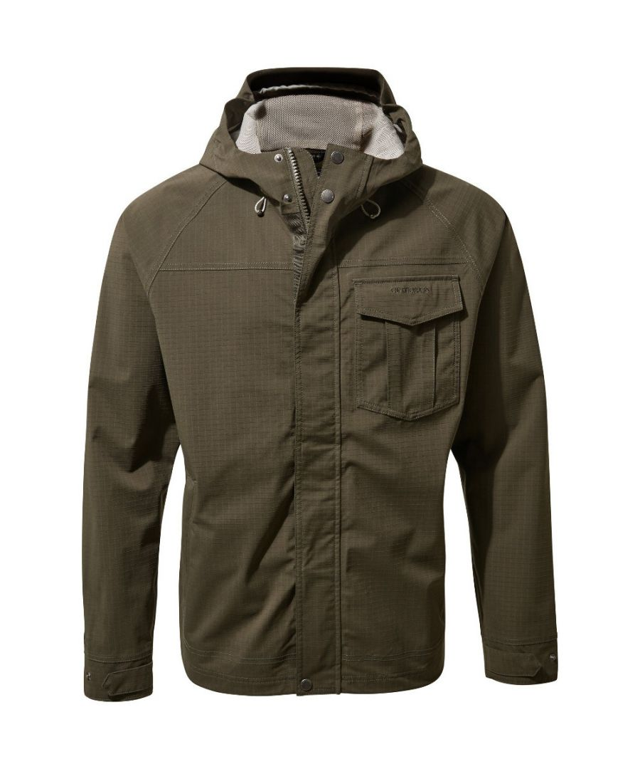 Image for Craghoppers Mens Pablo Waterproof Breathable Hooded Jacket