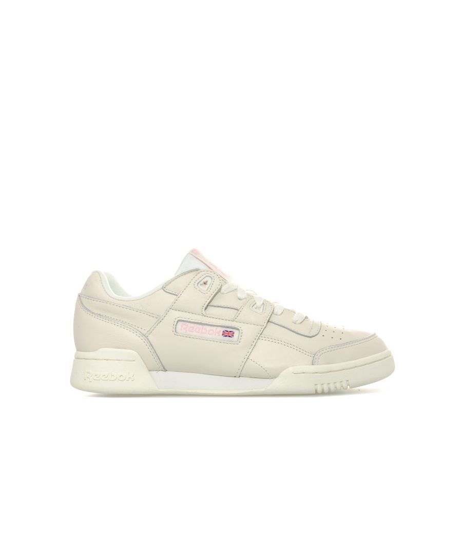 Image for Women's Reebok Classics Workout Plus Vintage Trainers in White pink